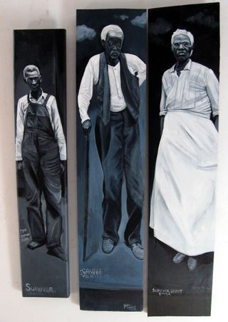 Survivor Spirits Carter Felix Emma 2008 acrylic on wood