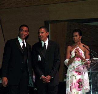 Harry Lennix Barack Obama Michelle Obama