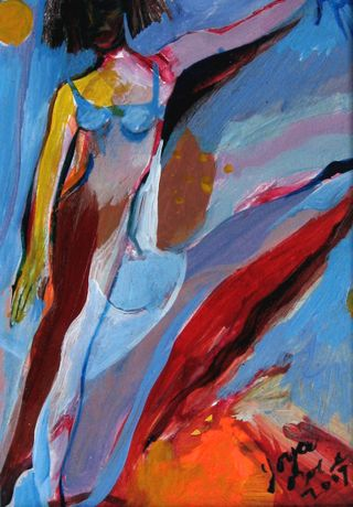 Imagined in Marble figure on pointe 5x7 2007 Joyce Owens
