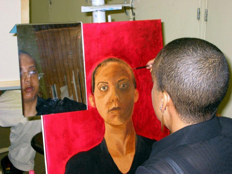 A CSU painting student Nina Dew Spr 2007