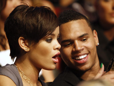 Rihanna and Chris Brown (AP photo)