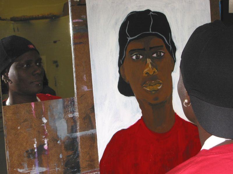 CSU painting student Carey McClarin Spr 2007