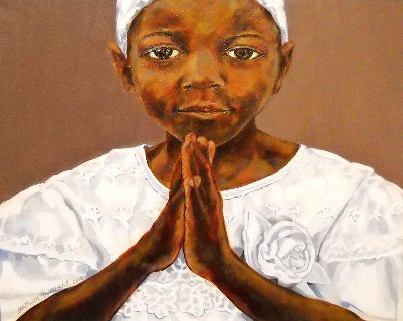 Haiti Girl Praying Nicole Gallery