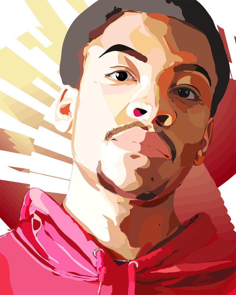 Kyle Anderson self portrait
