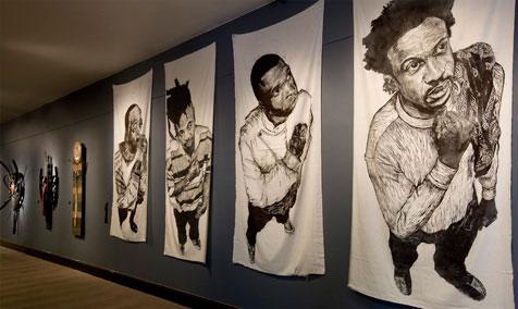 Black Creativity winners Yashua Klos right and Paul Benjamin