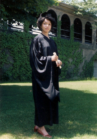 Joyce Owens Yale graduation in robe