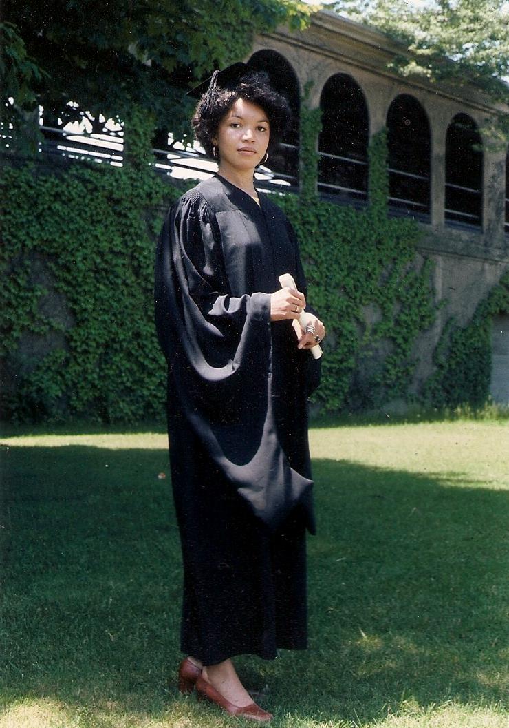 Joyce Owens Yale graduation in robe